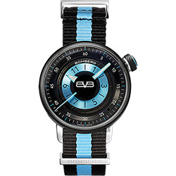 BOMBERG 炸彈錶 BB-01 休閒女錶-藍帆布帶/38mm