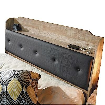品家居 辛西亞3.5尺耐磨皮革單人床頭箱-106x25x95cm免組