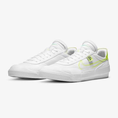 NIKE 小白鞋  休閒鞋  運動鞋 男鞋 白綠 CZ5847100 Drop-Type HBR WW