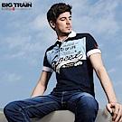 BigTrain配色休閒POLO衫-男-深藍