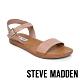 STEVE MADDEN-LEAGUE 搶眼一字帶繫帶低跟涼鞋-藕色 product thumbnail 1