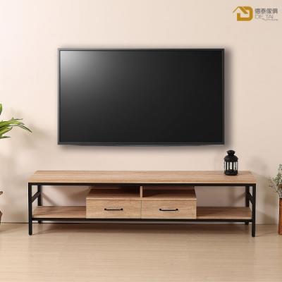 D&T德泰傢俱格萊斯原切木輕工業風6尺TV櫃-180.8x44.9x46.5cm