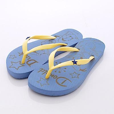迪士尼童鞋唐老鴨夾腳拖鞋款FO4024707藍大童親子段