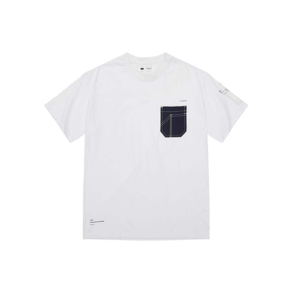 NAVY-異材設計口袋短T-男【SNC065】