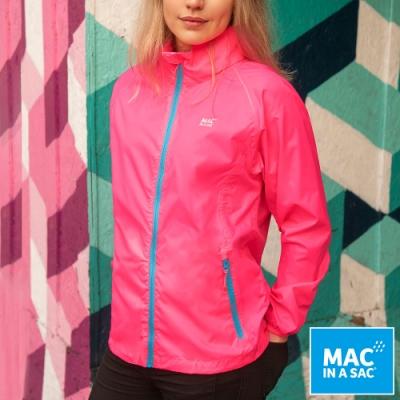 【MAC IN A SAC】男女款輕巧袋著走防水抗風透氣輕量外套MNS089螢光粉
