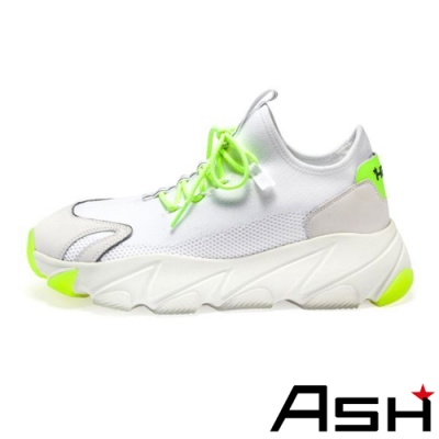 ASH-ENIGMA時尚潮流休閒運動增高厚底老爹鞋-白