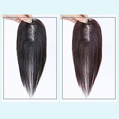 米蘭精品 假髮片真髮絲-隱形增髮量25cm補髮塊女假髮母親節禮物73us4