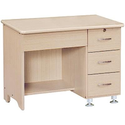 綠活居 哈特3尺木紋四抽書桌/電腦桌(二色)-90x60x75cm免組