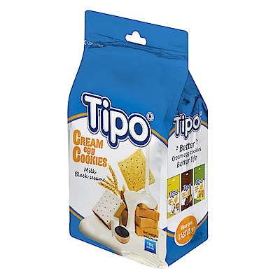 Tipo 雞蛋吐司餅-芝麻牛奶風味(135g)