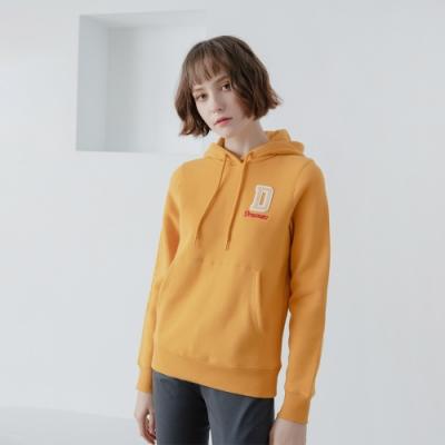 GIORDANO 女裝 Dreamers系列復古風連帽T恤-26 向日葵黃