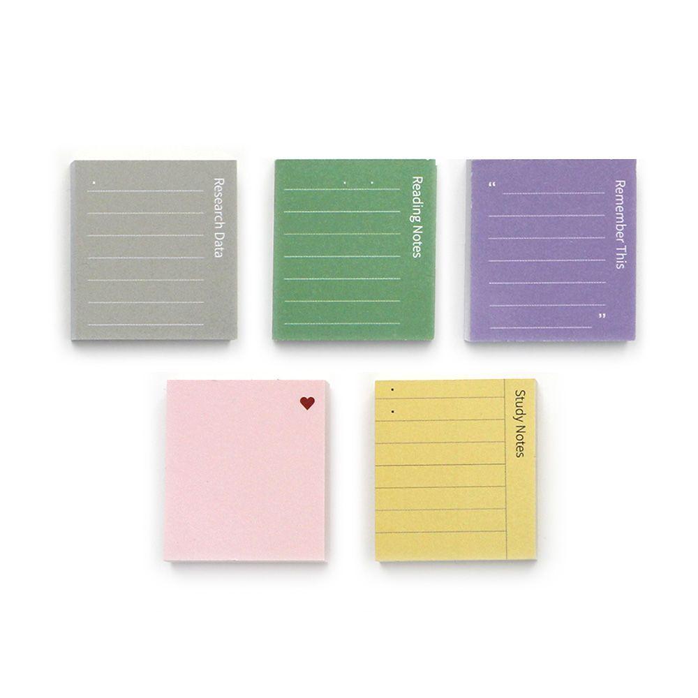 GMZ 粉彩方塊酥索引式便利貼5入組-學習組合包
