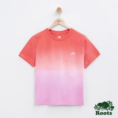 女裝Roots 漸層短袖T恤-粉