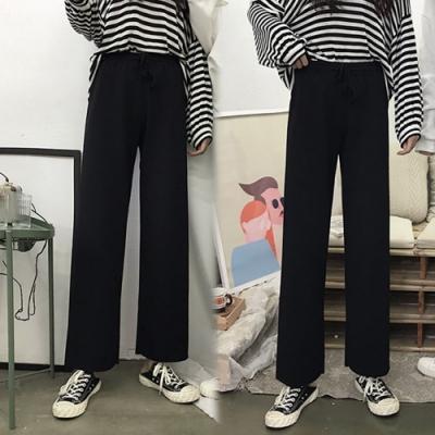 【韓國K.W.】(預購)甜美可愛運動直筒褲-2色