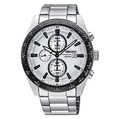 SEIKO 精工 CRITERIA登躍極致太陽能運動腕錶/SSC653P1/V176-0A