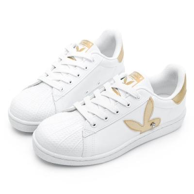PLAYBOY簡約兔頭休閒貝殼鞋-白金-Y622615