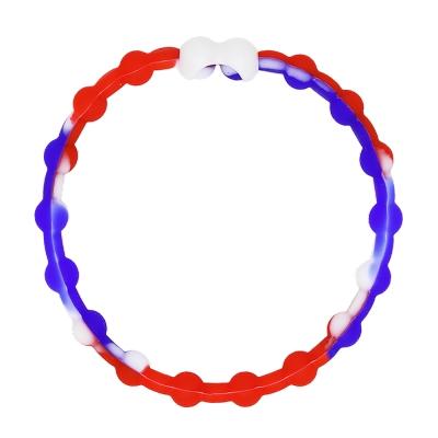 Pro Hair Tie 扣環髮圈單條組-紅白藍色