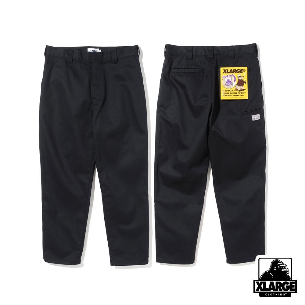 XLARGE SIDE POCKET WORK PT口袋工作褲-黑