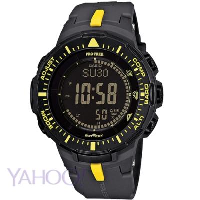 CASIO PROTREK馳騁太陽能三大感應登山錶(PRG-300-1A9)黃刻47mm