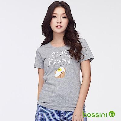 bossini女裝-印花短袖T恤41淺灰