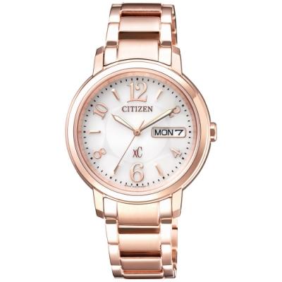 CITIZEN星辰 xC光動能限定款浪漫甜心時尚女錶(EW2422-55A)-32.5mm
