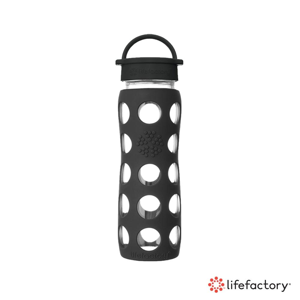 lifefactory 玻璃水瓶平口650ml-黑色(CLA-650-BKB)