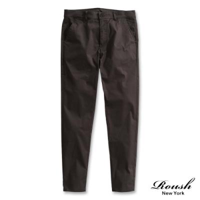 Roush 基本款素面斜紋長褲(4色)