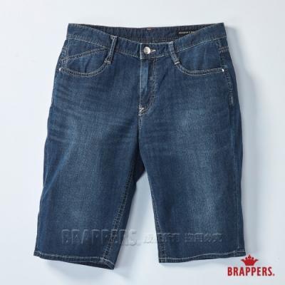 BRAPPERS 女款 Boy Friend系列-中腰彈性五分褲-深藍
