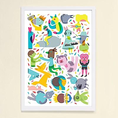 摩達客 西班牙知名插畫家Judy Kaufmann藝術掛畫-Party系列04