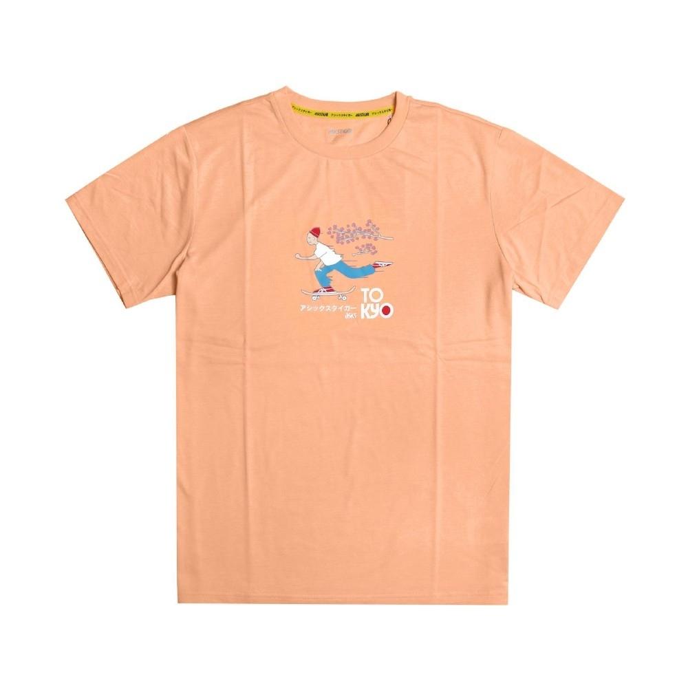 Asics T恤 JSY Graphic SS T 2 男款 亞瑟士 東京 塗鴉 圓領 棉質 基本款 橘 白 2191A254802