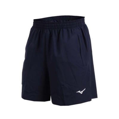 MIZUNO 男桌球短褲-乒乓球 五分褲 競賽 運動短褲 美津濃 丈青白