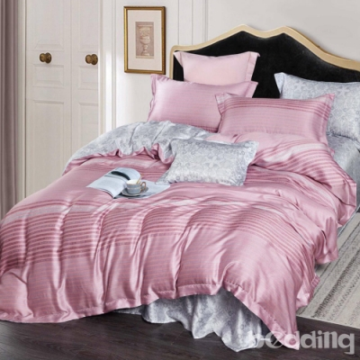 BEDDING-100%天絲萊賽爾-特大6x7薄床包+鋪棉兩用被套四件組-傅羅