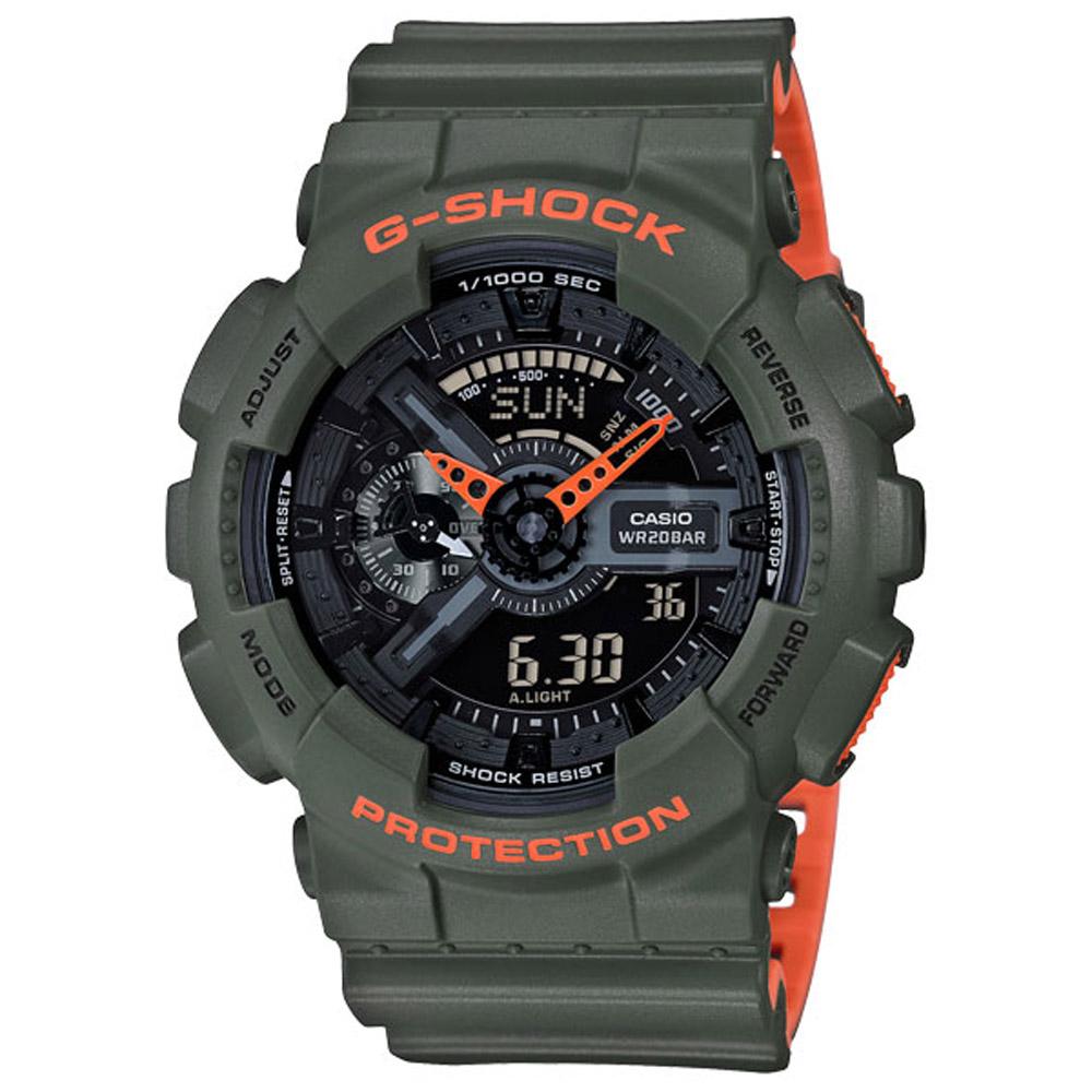 G-SHOCK 時尚運動超人氣雙顯運動錶(GA-110LN-3A)-51.2mm @ Y!購物