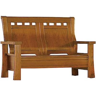 綠活居 瑪尼典雅風實木二人座沙發椅-136x79x100cm免組