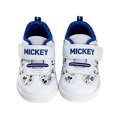 迪士尼童鞋 90周年限定款 米奇 魔鬼氈休閒板鞋-白