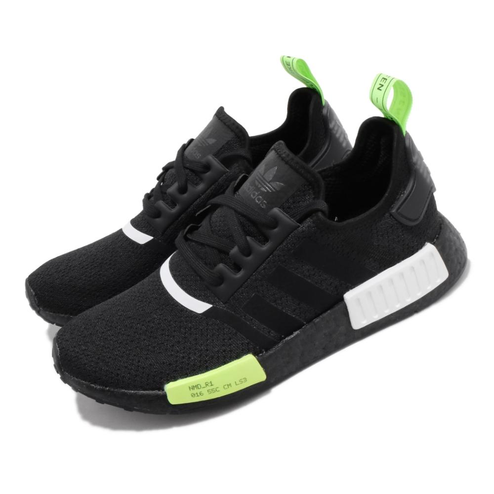 adidas 休閒鞋 NMD R1 襪套式 穿搭 男鞋 愛迪達 三葉草 Boost 緩震 流行款 黑 綠 EF4268