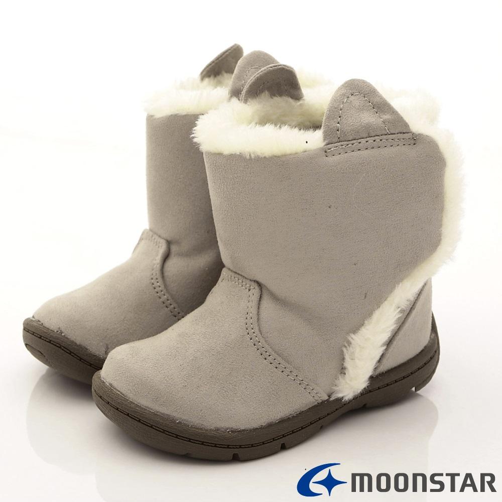 日本Carrot機能童鞋 WAGAMAMA設計暖靴款967灰(寶寶段)