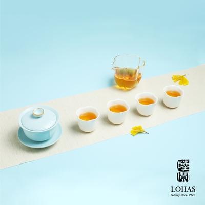 陸寶LOHASPottery 菩提茶組 天青色 一碗一海六杯 人文飲茶新體驗