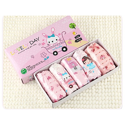 baby童衣 女童內褲5入組 生日禮盒y7025