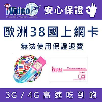 iVideo歐洲上網卡 SIM卡 12天 吃到飽 【小資方案】