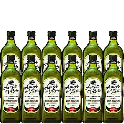 義大利莊園AMOR 初榨橄欖油(1000mlx12瓶)