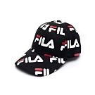 FILA 時尚LOGO帽-黑 HTU-1104-BK