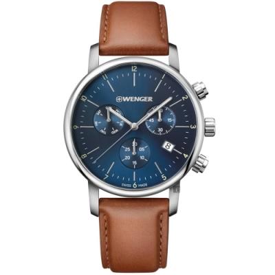 WENGER 威格 Urban 都市系列簡約三眼計時手錶(01.1741.104)-44mm