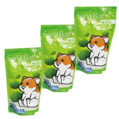CANARY - 小動物抗菌沐浴砂-檸檬香-1kg裝-3包組(鼠砂)