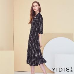【YIDIE衣蝶】點點獨特鑽飾長洋裝-白