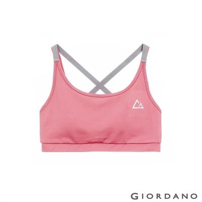 GIORDANO 女裝G-MOTION細肩帶運動內衣 - 27 淺紫紅