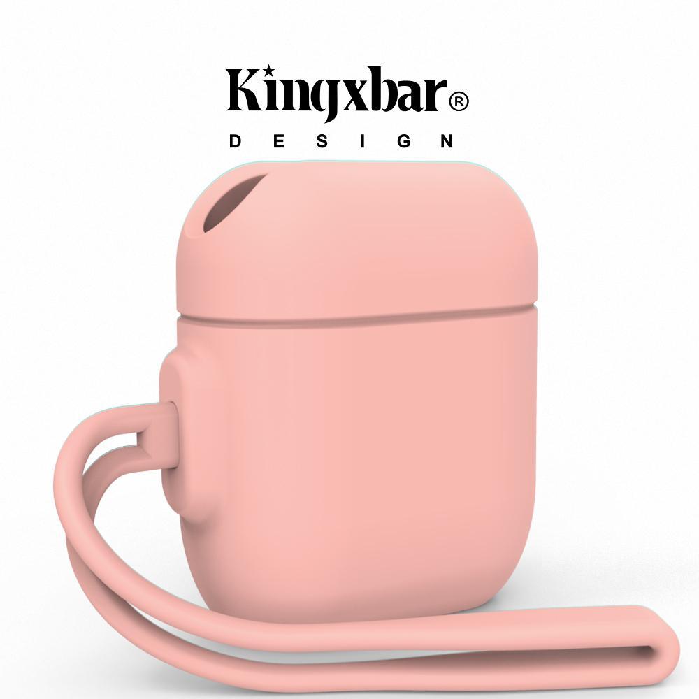 Kingxbar AirPods 防水抗震保護套-櫻花粉