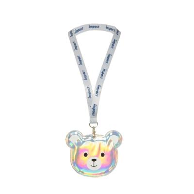 【IMPACT】小熊卡套附背帶-銀色 IMG0008SL