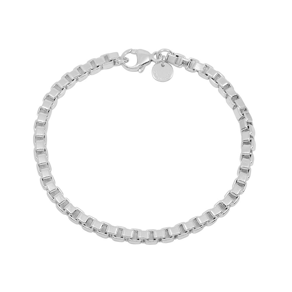 Tiffany&Co. Venetian威尼斯簡約鍊條造型純銀手鍊 @ Y!購物