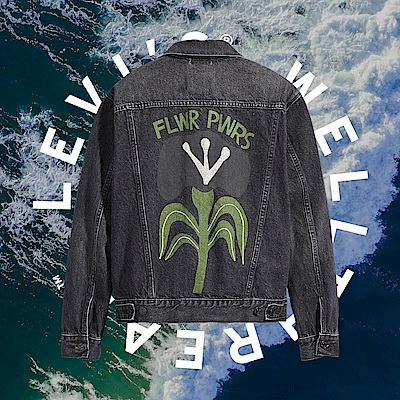 Levis Wellthread環境友善系列 女款 牛仔外套 創新棉化寒麻纖維 自然花草印花