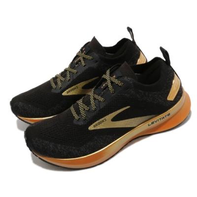 Brooks 慢跑鞋 Levitate 4 Victory 女鞋 路跑 緩震 DNA科技 透氣 健身 球鞋 黑 金 1203351B054